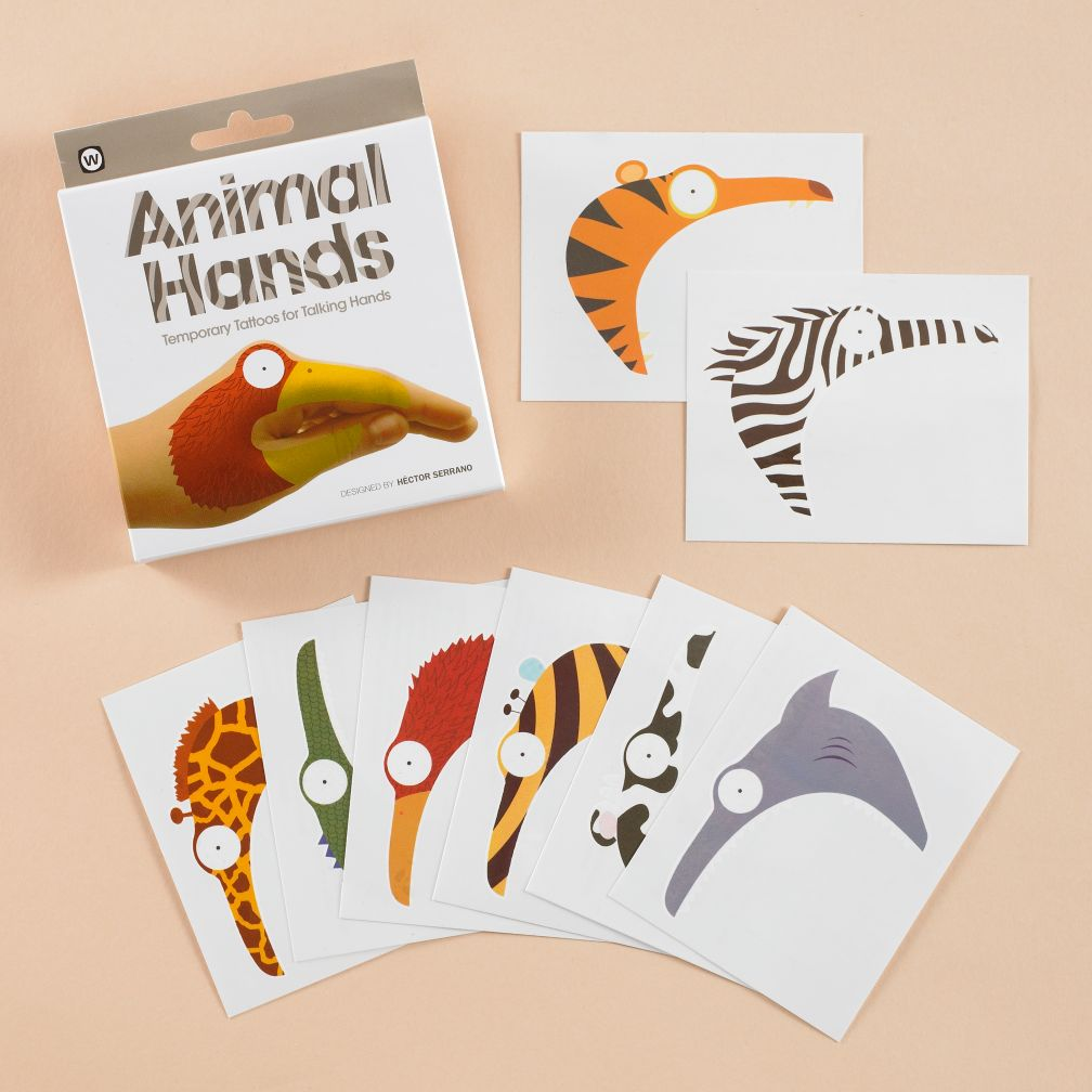 Animal Hand Tattoo Set